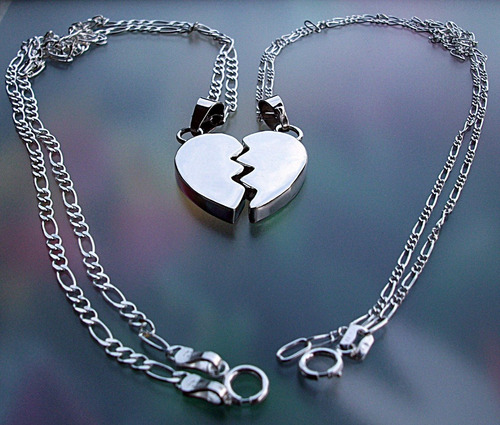eb3087ebfc7a Parejas Cadena Dije 3d Corazón Partido Personalizado Plata en venta en  Naucalpan Estado De México por sólo   795