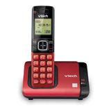 Teléfono Inalámbrico Vtech Cs6719 Negro Y Rojo