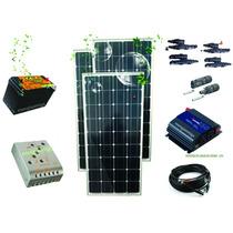 Paneles Solares 300w Kit Completo 12v Genera 1,200wh / Dia