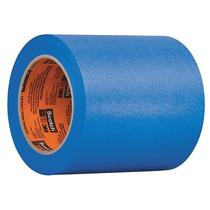 Cinta Adhesiva Pintores 4 Azul Dorso Plano Papel Crepé