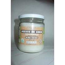 Aceite De Coco Organico 470 Ml En Cristal Sin Sabor Ni Olor