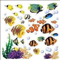 Bajo El Mar Decorativo Pelar Y Palillo De La Pared Etiqueta