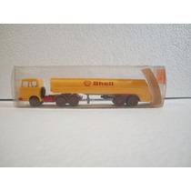Wiking Trailer Camion Pipa Shell Tankzug Amarillo 1:87