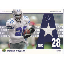 2002 Ud All Star Authentics Jersey Darren Woodson S Cowboys