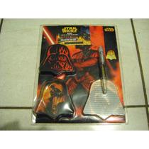 Darth Vader Collector Set Pluma Con Luz, Cajita Y Libreta
