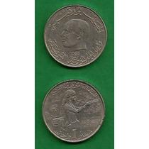 Grr-moneda De Tunisia (túnez) 1 Dinar 1983 - Serie F. A. O.