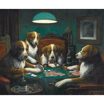Lienzo Tela Perros Jugando Poker Año 1894 50 X 61 Cm