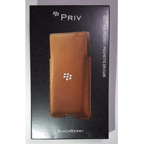 Funda Original Leather Pocket Para Blackberry Priv (cafe)