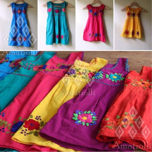 6044838bc4 Surtido 6 Vestidos En Color Y Talla Artesanales Para Niña en venta ...