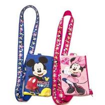 Disney Juego De 2 Mickey Y Minnie Mouse Cordones Con Moneder