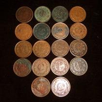 Monedas 1 Centavo Monograma Lote Serie De 1930 A 1949