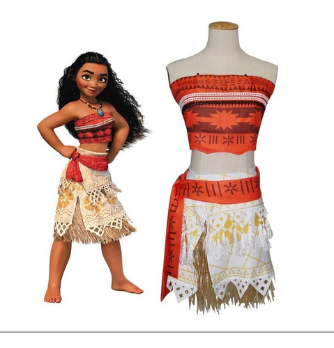 Disfraz Vestido Princesa Disney Moana Nina Fiesta Halloween