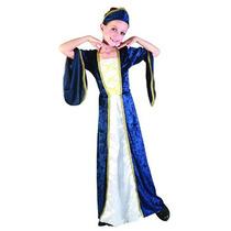 Princesa Costume - Niños Niñas Azul Medio Regal Royal Robe