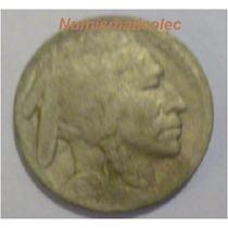 Moneda 5 Centavos Nickel Indio Bufalo 1920 Usa