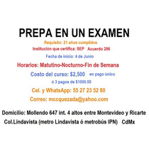 Prepa En Un Examen, Ceneval 286,ingreso A Unam/ipn/uam,