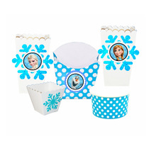 Kit Fiesta Frozen Ana Elsa Olaf Vasos Servilletero Popotes