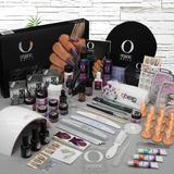Kit Uñas Qbexa Prokit Organic Nails, Lámpara Uvled Point Gel
