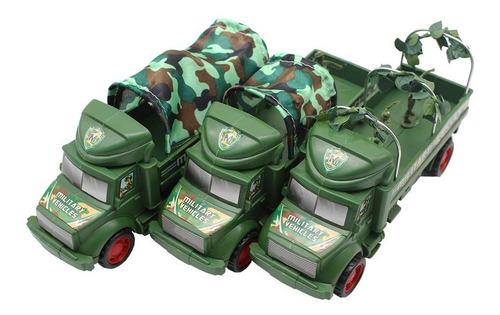 Carrito Camión Militar De Combate Juguetes Para Niños 1pz
