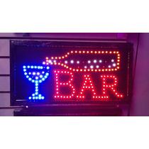 Letreros Con Iluminacion Led Para Entradas Con Slogan De Bar