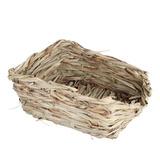 Cama Durable Estera Juguete Chew Casa Hierba Conejo Para Con