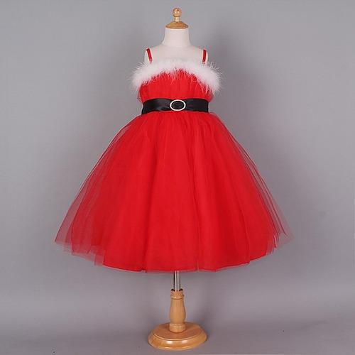 Vestido Navidad Santa Niña Moda Importada En Venta En