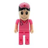 Aneew 16gb Pendrive Pink Nurse Women Hospital Robot Unidad F