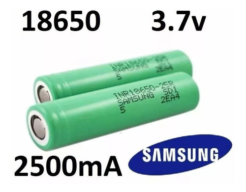 1 Bateria Pila Samsung 18650 2500mah Recargable 100% Orig