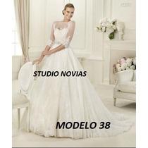 Vestido Novia Nuevo Barato Bonito Elegante Español Hermoso39