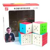 Paquete Cubos Rubik Qiyi  2x2, 3x3, 4x4, 5x5  Warrior Family