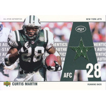 2002 Ud All Star Authentics Jersey Curtis Martin Rb Jets