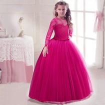 e2dc85d05 Vestido Niña Fiesta Paje Rosa Fiusha tul en venta en Las Puentes ...