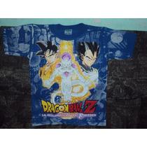 Playeras Dragon Ball Z De Goku Vegeta Freezer Talla 6-8 Niño