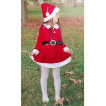 Vestido Y Gorro Para Niñas Navideño De Santa Claus Lilax 2