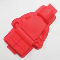 Molde Silicon Grand Figura Hombre Pastel Lego Gigante Amyglo