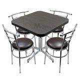 Mesa Con Sillas Para Restaurante Bar Cafetería Cocina Lounge
