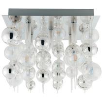 Lampara De Techo Esferas Cristal 5 Focos G9 Morfeo 55cm Eglo