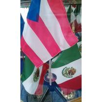Bandera Mexico Mundo Varios Paises 15x12cms Asta De Chupon