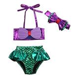 Traje De Baño (bikini) Sirenita-ariel Talla 3 Meses A 8 Años