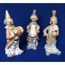 Trío De Payasos Músicos De Porcelana