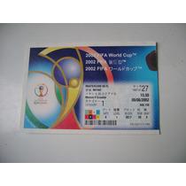 Campeonato Mundial De Futbol Korea Japon 2002 Boleto