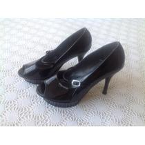 Zapatillas Negras De Charol. Limpia De Closet!