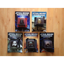 Set 5 Cascos Star Wars Vader C3po Stormtrooper Boba Planeta