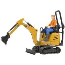 Bruder Jcb Micro Excavadora 8010 Cts Y Trabajador De Constru