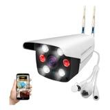 Cámara Seguridad Vigilancia Ip 1080p Wifi Exterior Ip67 6 Lamparas Antena Dual Visión Nocturna Audio P2p Seedary 003-1
