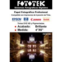 Papel Fotográfico Profesional Brillante 4x6 100 Fotos