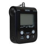 Metrónomo Digital Cronómetro Reloj Color Negro Seiko Dm-90