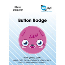Moshi Monsters Placa - Poppet Cara 25mm Niños De Dibujos An