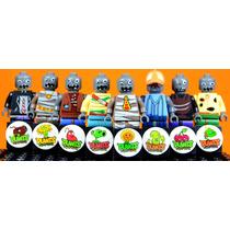 Set De Plantas Contra Zombies Compatibles Con Lego