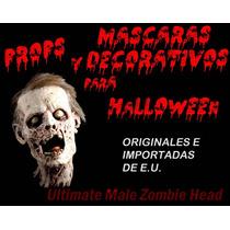 Decorativo Para Halloween De Cabeza De Zombie, Prop