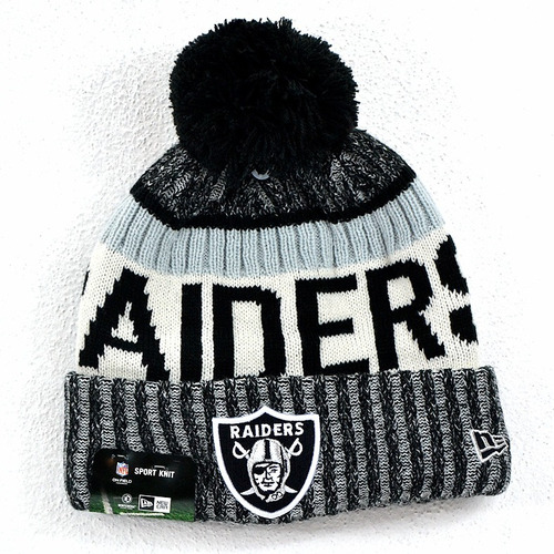 Oakland Raiders Gorro De Invierno Nfl 100% Original 2ae551bb045